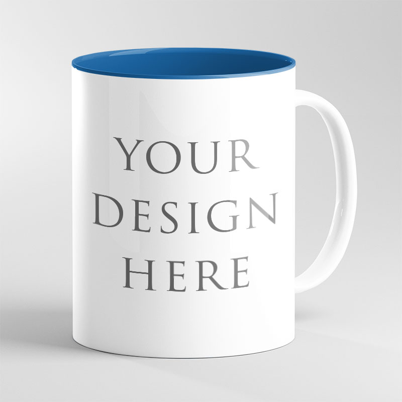 Blue Inside Mug 11oz