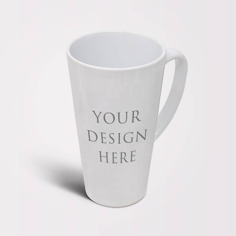 Latte - Coffee - Tea Mug White 17oz