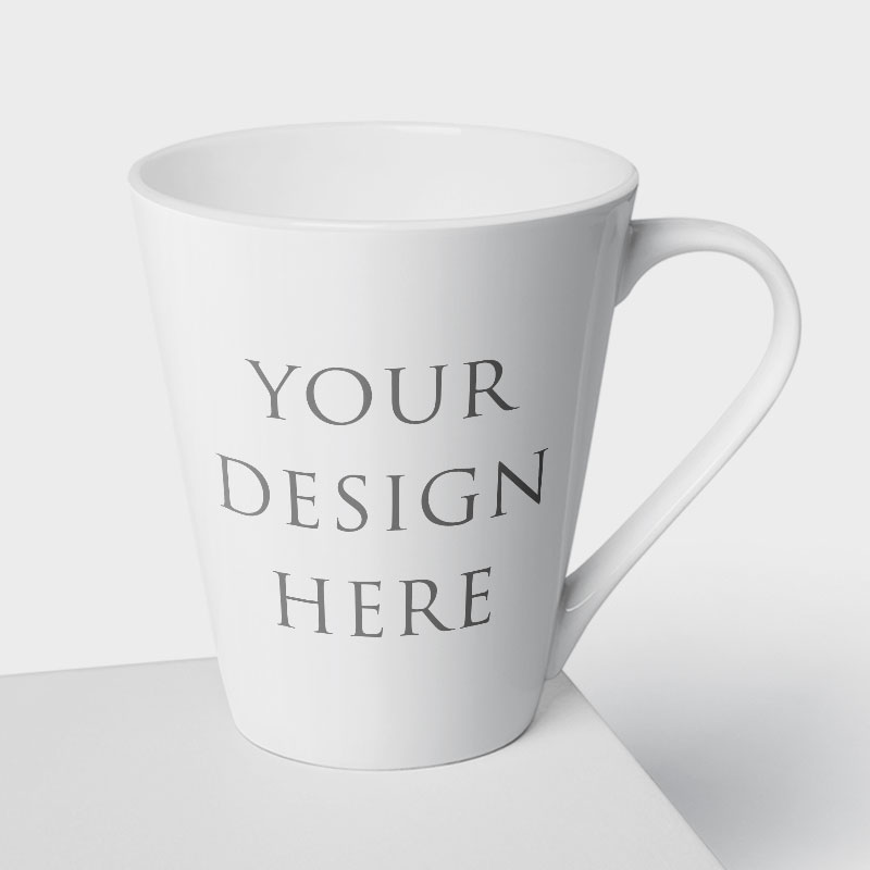 Latte - Coffee - Tea Mug White 12oz