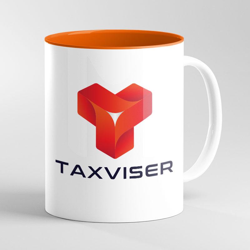 Orange Inside Mug 11oz