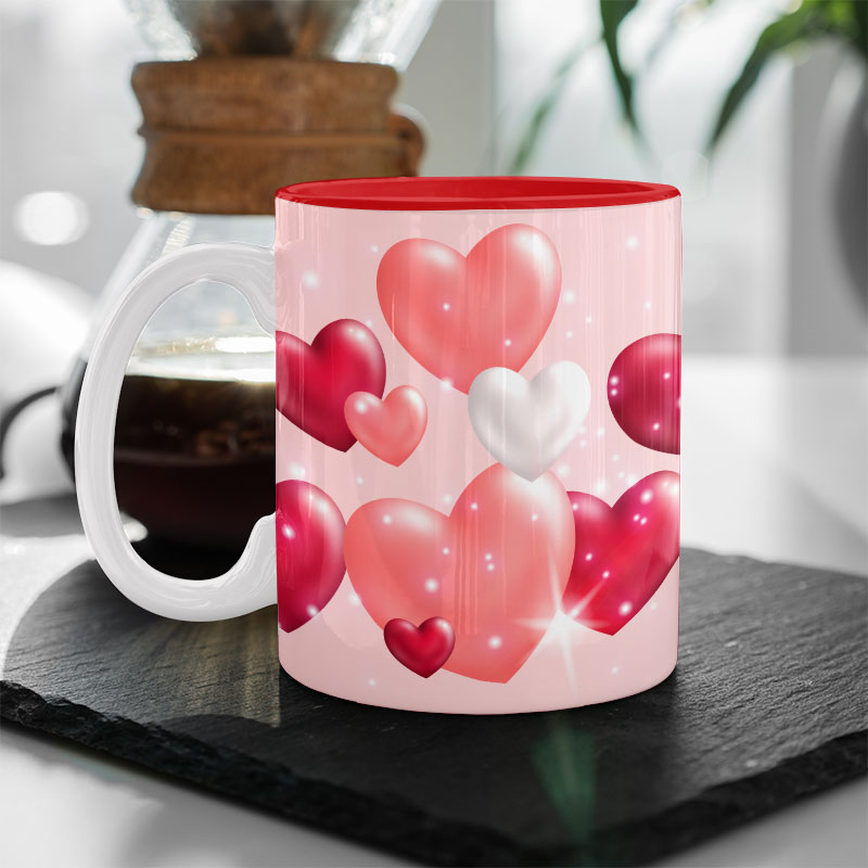 Red Inside Mug 11oz