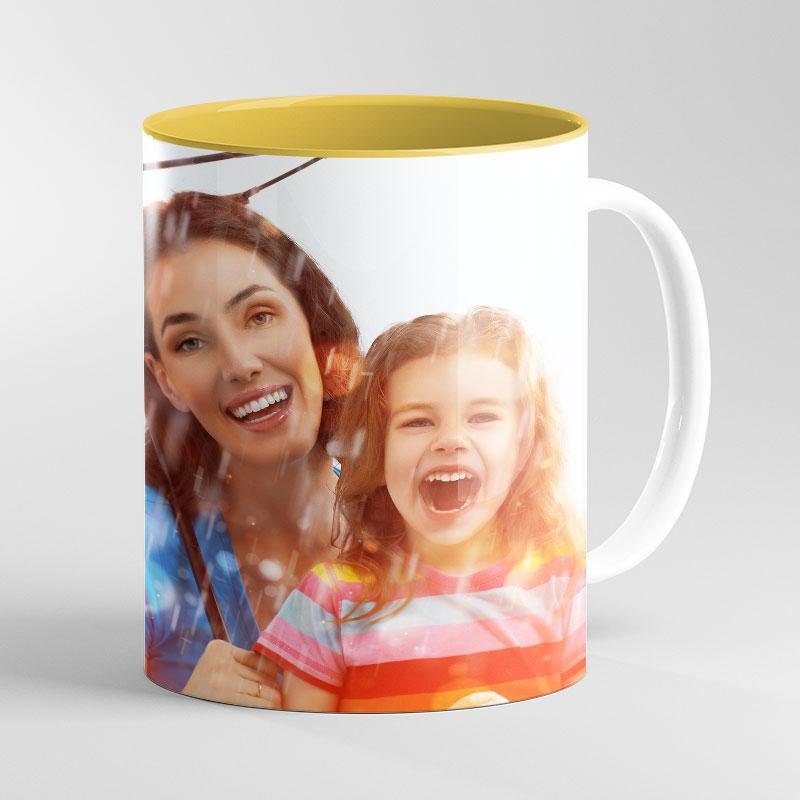 Yellow Inside Mug 11oz