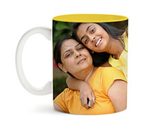 Yellow Inside Mug 11oz