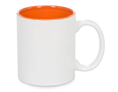 Orange Inside Mug 11oz