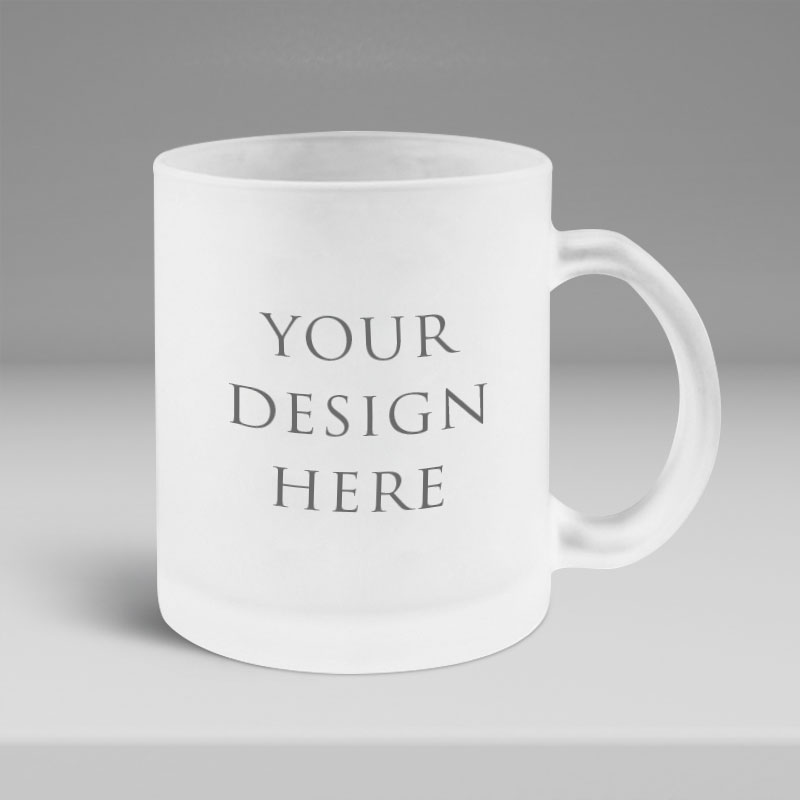 Frosted Glass Mug 11oz