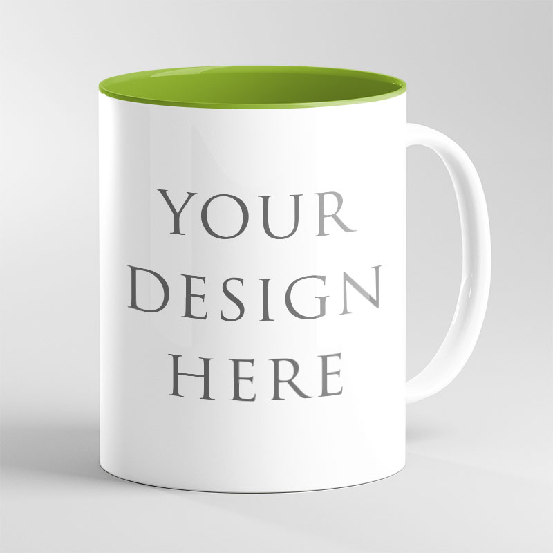 Green Inside Mug 11oz