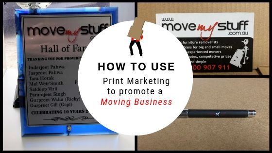 How to Use Print Marketing to Promote a Moving Business