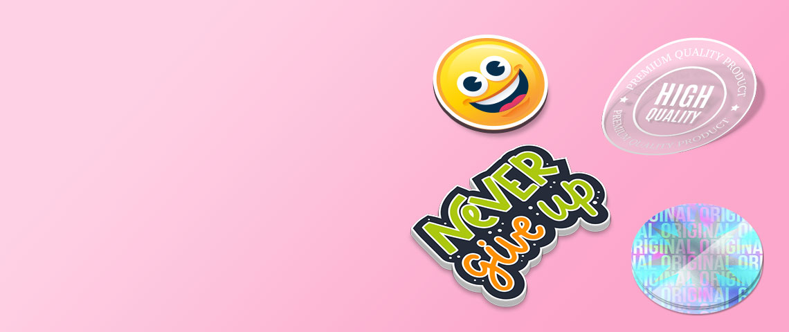 collection of attractive custom stickers banner on printyo