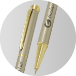 high quality custom pen golden tail