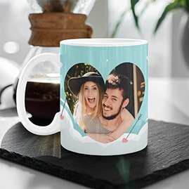 Cloudy Love Photo Mug