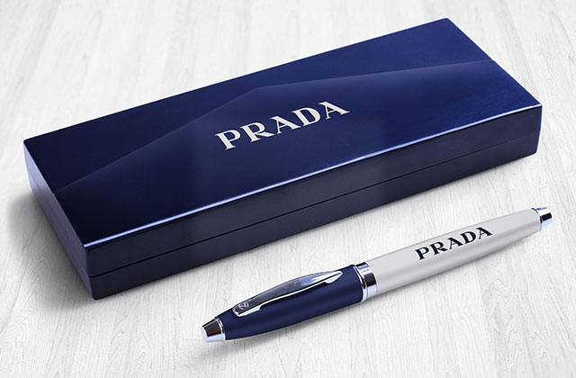 custom Prada pen with box printed by printyo