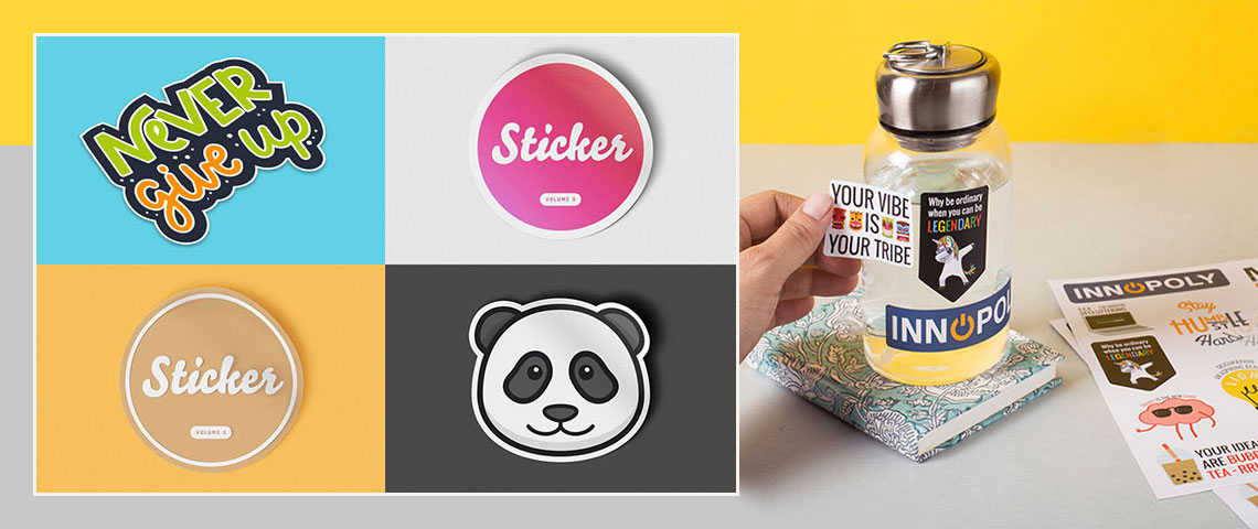stickers printing banner