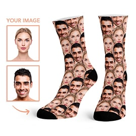 Custom Face Pattern Socks