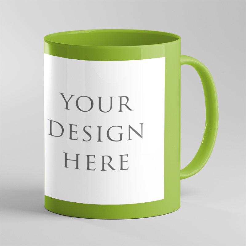 Light Green Patch Color Mug