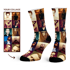 Custom Photo Collage Socks