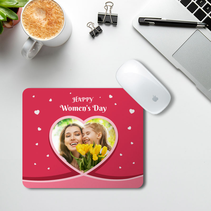 Women's Day Heart Mousepad