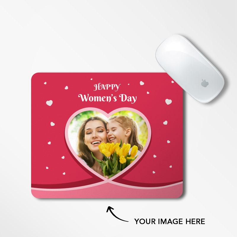 Women's Day Heart Mousepad