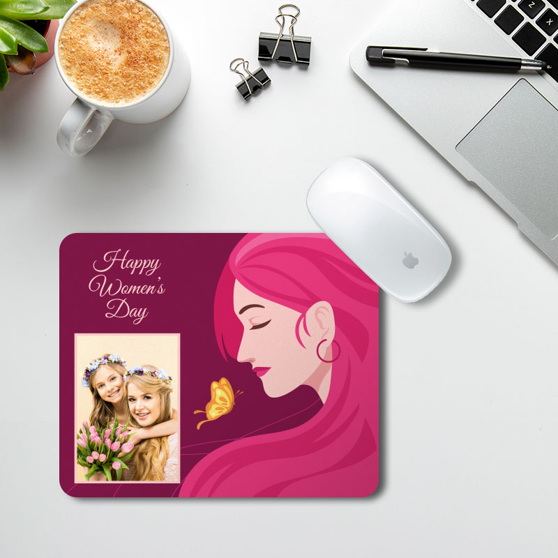 Women's Day Pink Mousepad