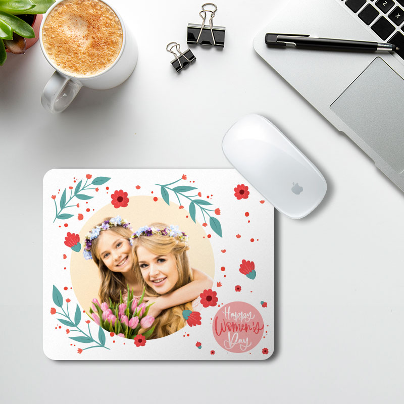 Women's Day Floral Mousepad