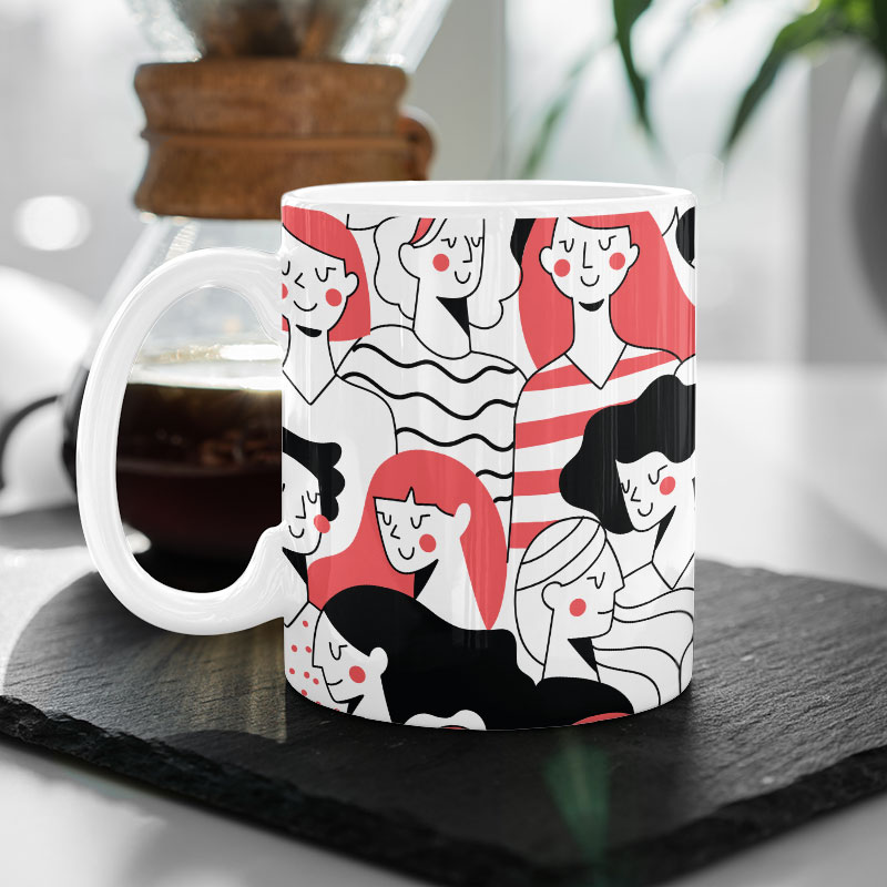 Women's Day Animated Mug
