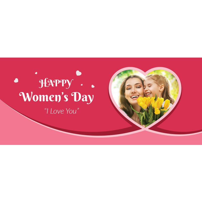 Women's Red Photo Mug with Custom Message