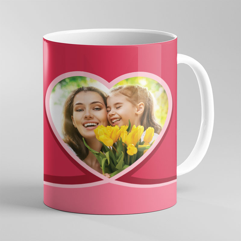 Women's Red Photo Mug with Custom Message