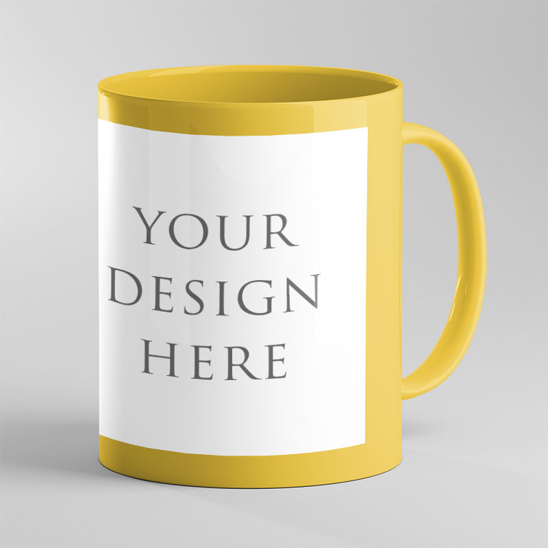 Yellow Patch Color Mug