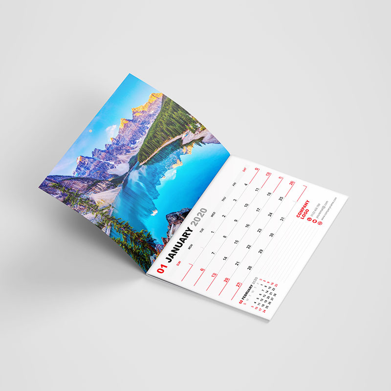 A3 Booklet Style Calendars
