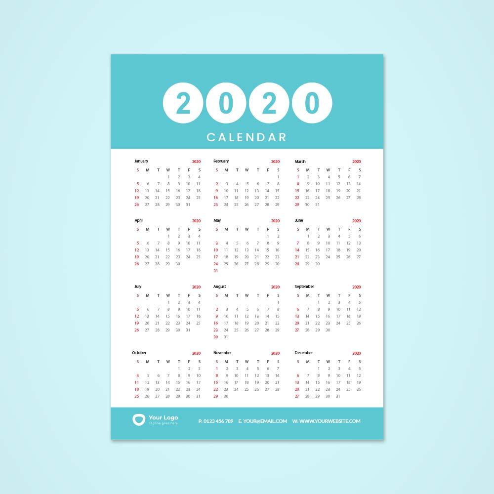A3-Single-Sheet-Calendar-2020-Template-2