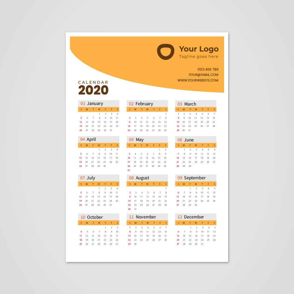 A3-Single-Sheet-Calendar-2020-Template-3