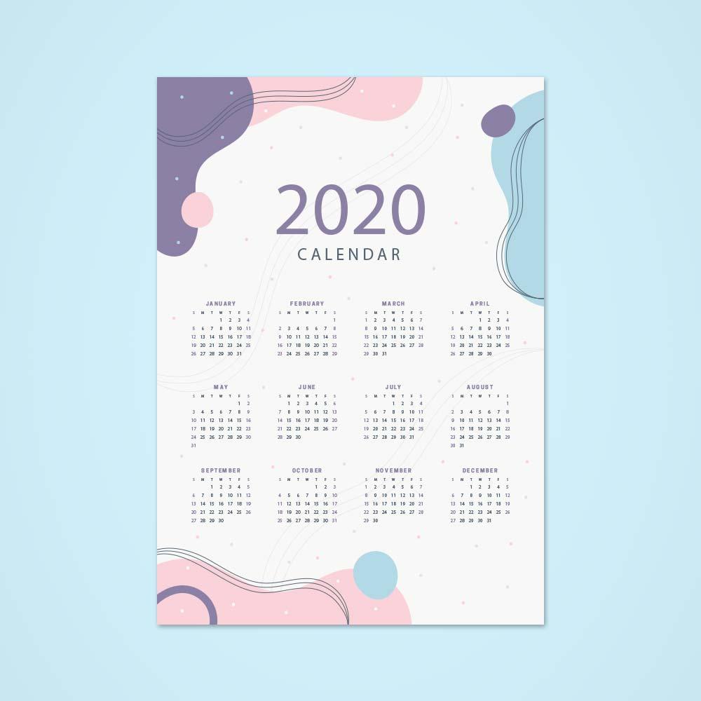A3-Single-Sheet-Calendar-2020-Template-4