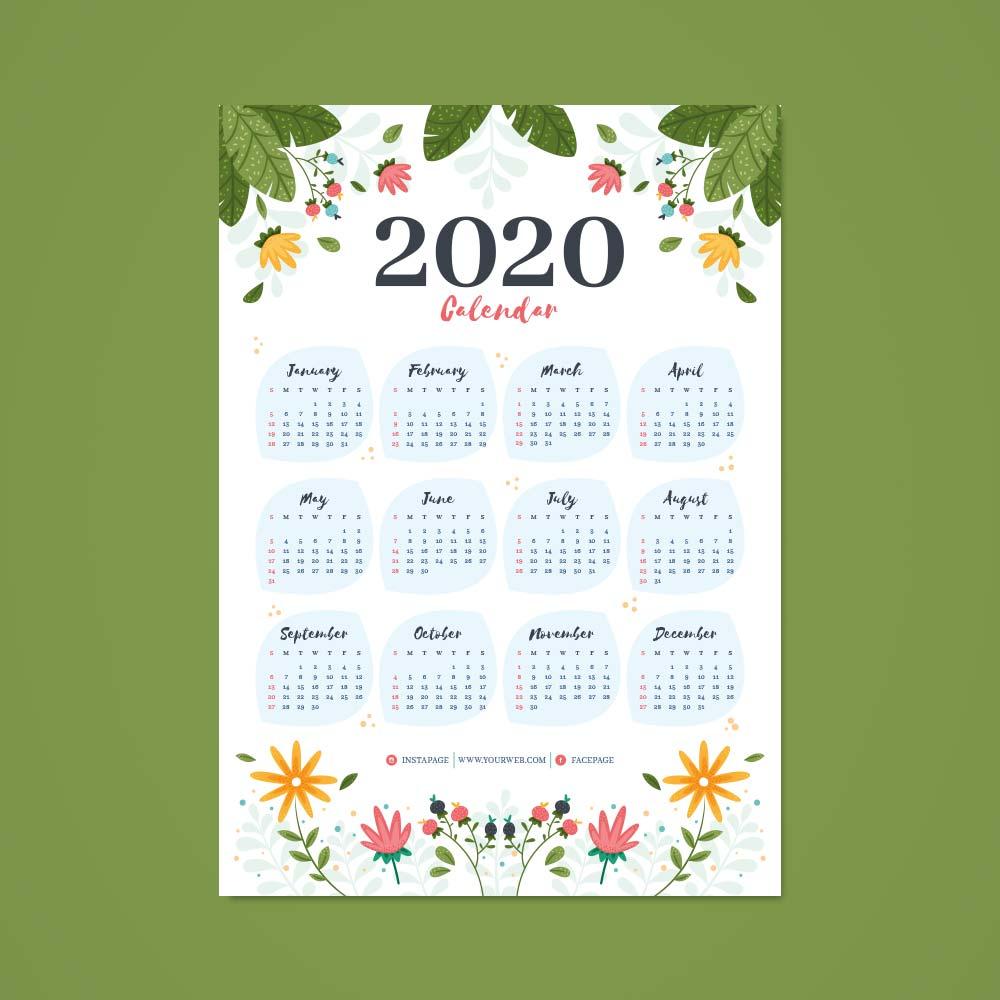 A3-Single-Sheet-Calendar-2020-Template-5