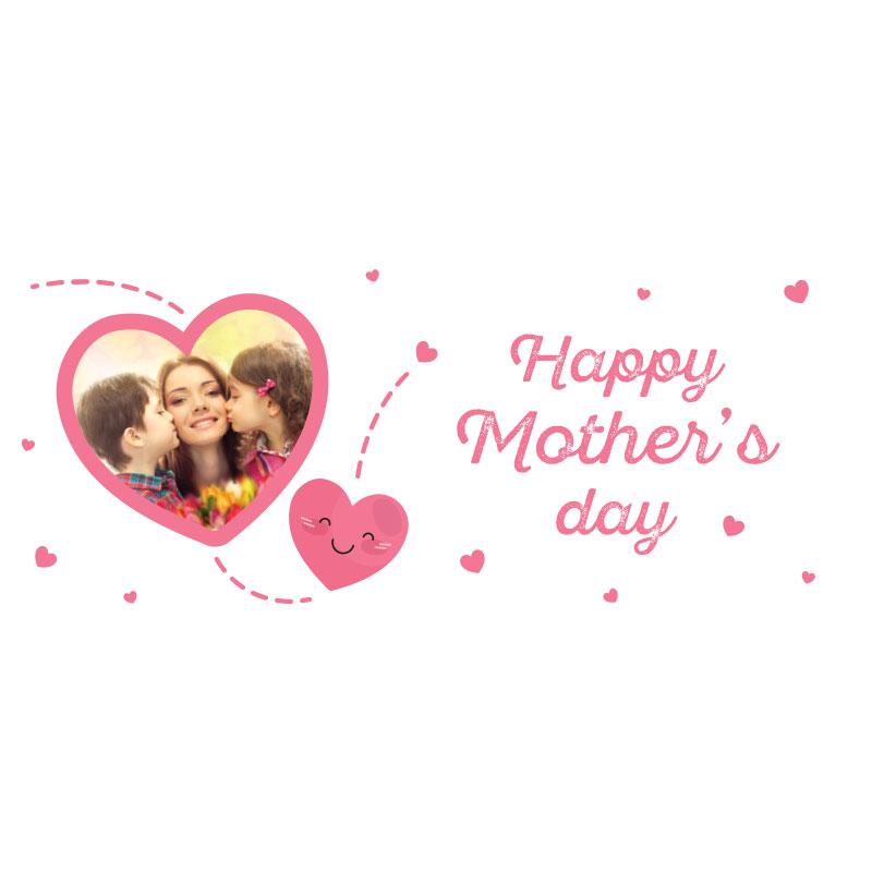 Heart Shape Mother's Day Photo Mug