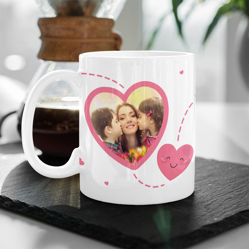 Heart Shape Mother's Day Photo Mug