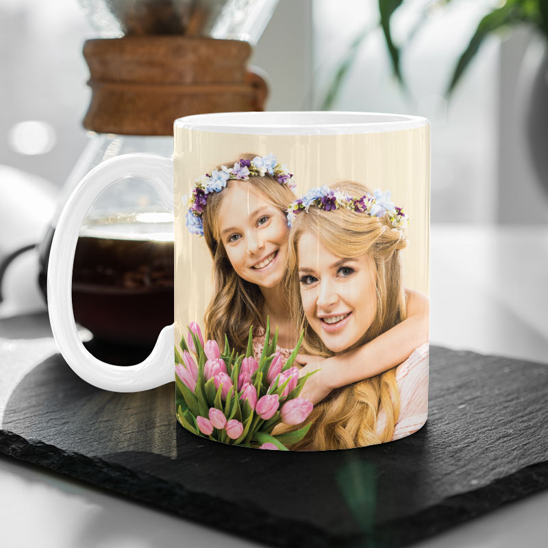 Photo Mug with Custom Message
