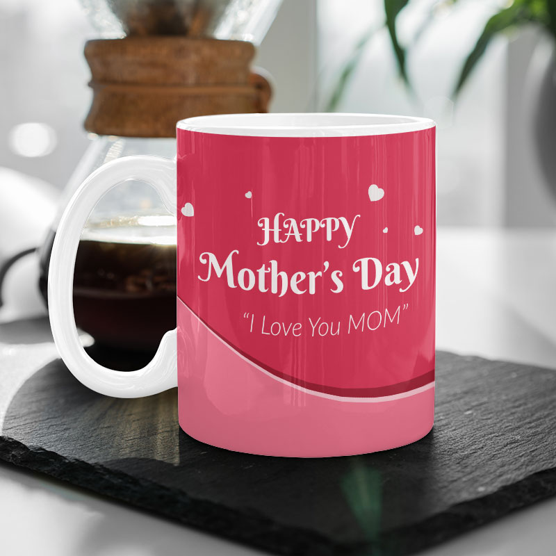 Red Photo Mother's Day Mug