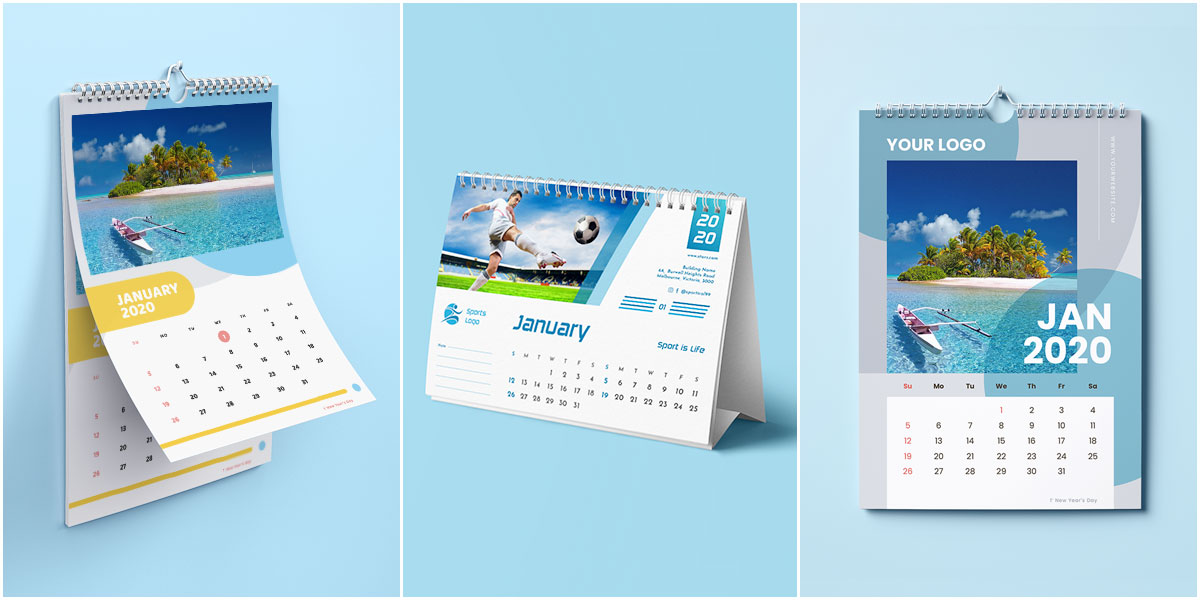 Download 38 FREE Printable Calendar Templates for 2021 (with Working Files)