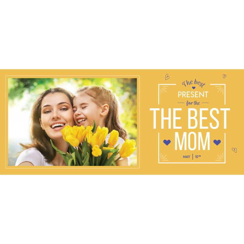Yellow Mother's Day Photo Mug