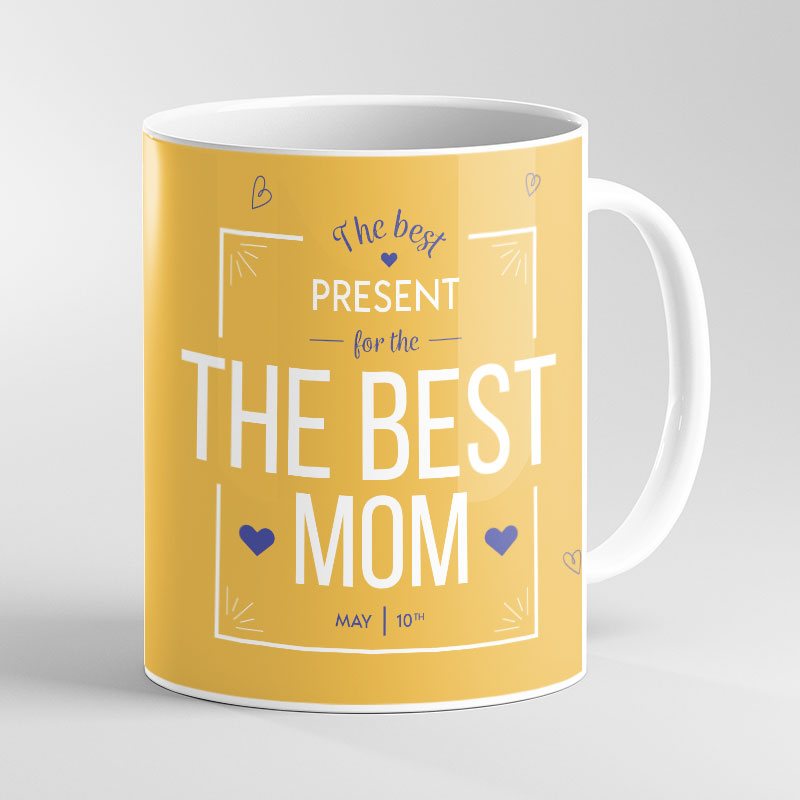 Yellow Mother's Day Photo Mug