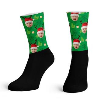 Christmas Black Base Ankle Socks