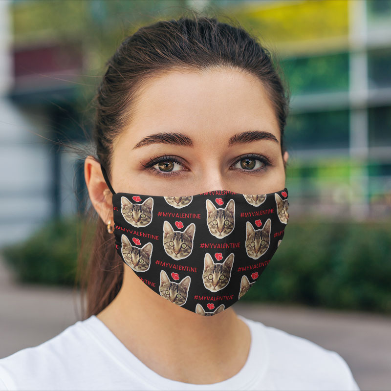 Comfort Hexa Cotton Face Mask Cat Lover