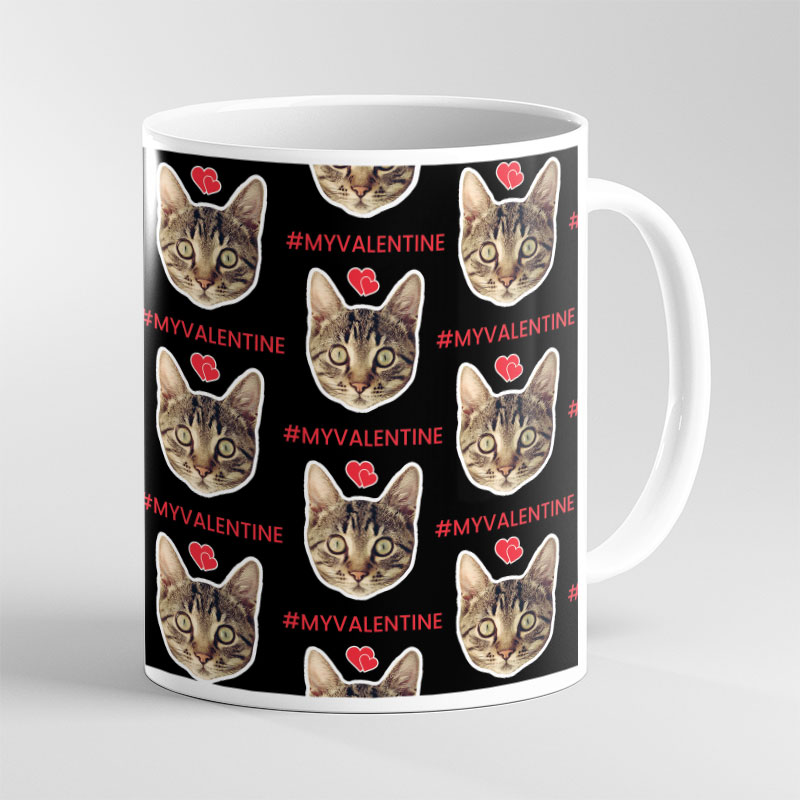 Face Mug Valentine Cat Lover