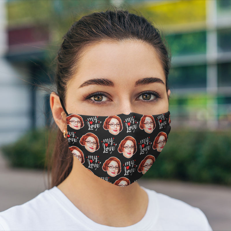Comfort Hexa Cotton Face Mask Valentine My Love