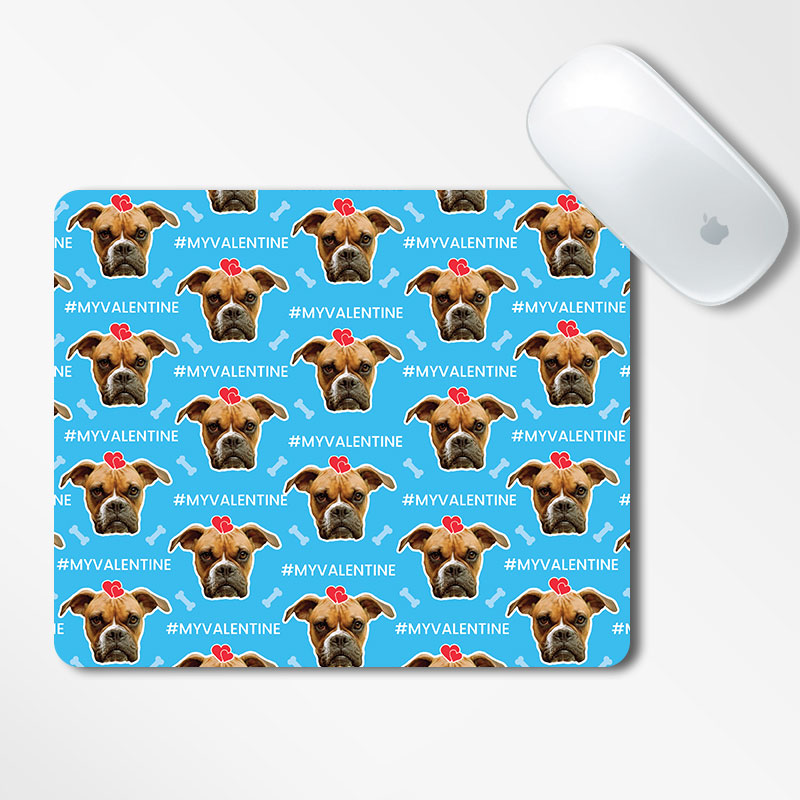 Valentine Dog Face Mousepad