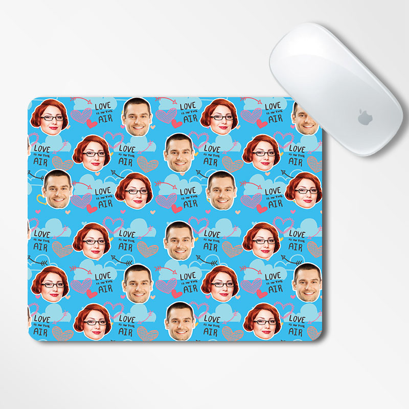 Valentine Face Mousepad Love Air Printed