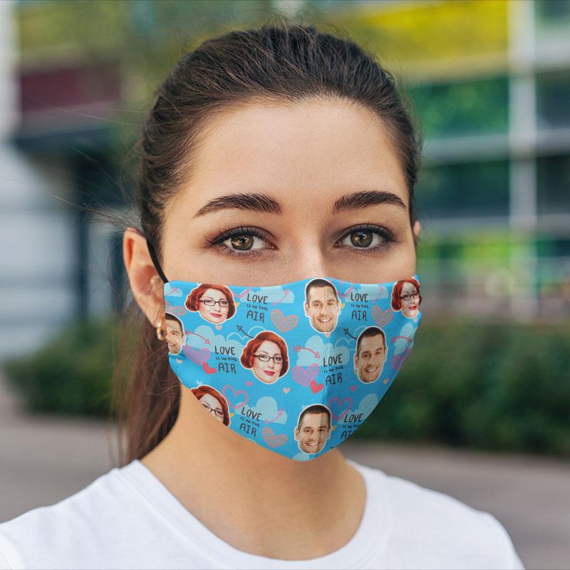 Comfort Hexa Cotton Face Mask Valentine Love Air