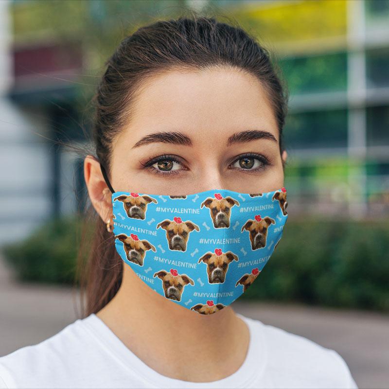 Comfort Hexa Cotton Face Mask Dog Lover