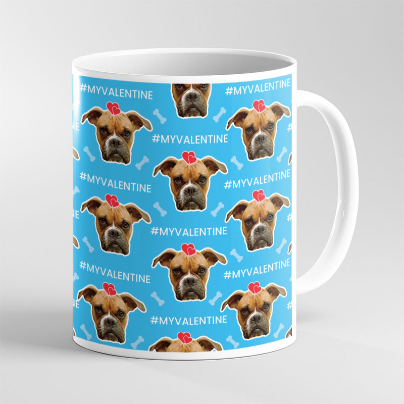 Face Mug Valentine Dog Lover