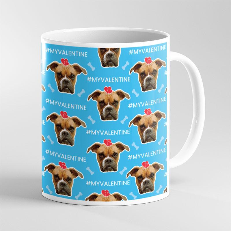 Valentine Dog Lover Face Mug
