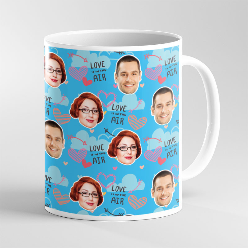 Face Mug Valentine Love Air